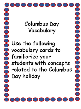 Columbus Day Activity Packet