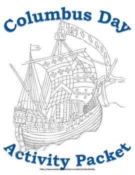 Columbus Day Activity Packet! Learning Activity Packet! October Holiday Packet!