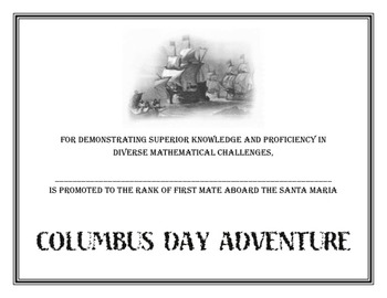 Columbus Day Adventure Activity