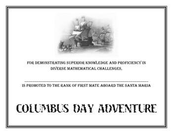 Columbus Day Adventure Activity