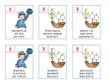 Columbus Day Articulation - R and S