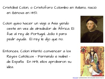 Spanish Columbus Day Biography, Questions, Activities