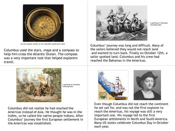 Christopher Columbus Book and Worksheet