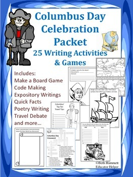 Columbus Day Celebration: 25 Writing Activities and Games