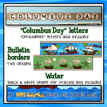 Columbus Day (Christopher Columbus) Bulletin Board Set and Writing Prompts