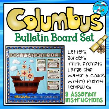 Columbus Day Bulletin Board Set + Writing Prompts - OCTOBER B.B.