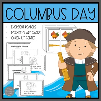 Columbus Day: Christopher Columbus Emergent Readers and Mini Literacy Set