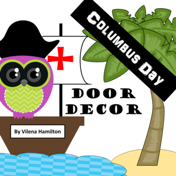 Columbus Day Classroom Door Decor - Owls-