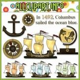 $1.00 BARGAIN BIN - Columbus Day Clip Art