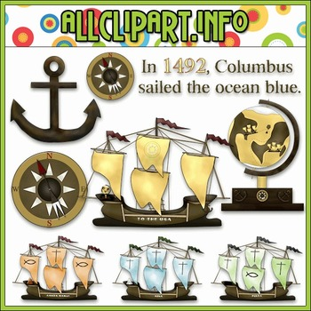 $1.00 BARGAIN BIN - Columbus Day Clip Art