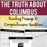 The Truth About Columbus: Close Reading Passage & Comprehension Questions