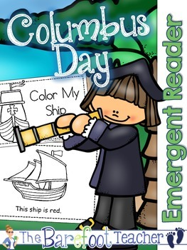 Columbus Day Color my Ship Emergent Readers - 2 Versions