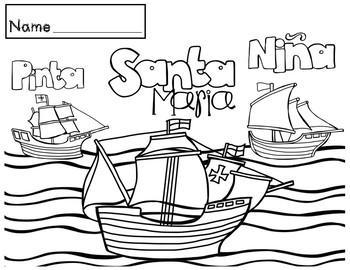 Columbus Day - Coloring Sheets by Red Headed Teacher | TpT
