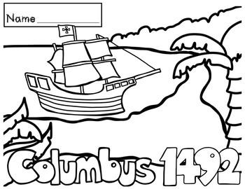 Columbus Day - Coloring Sheets