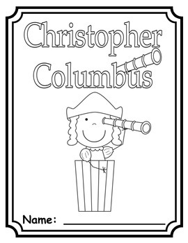 Columbus Day Coloring and Writing Pages