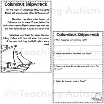 Columbus Day Comprehension