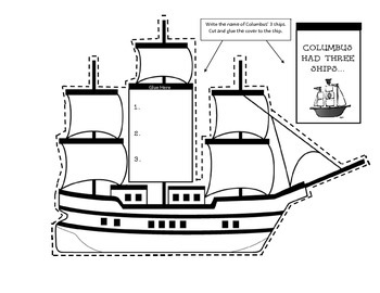 Interactive Columbus Day Craft - Lap Book Writing Activity