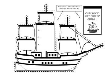 Interactive Columbus Day Craft - Lap Book Writing Activity