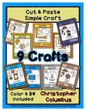 Columbus Day Craft Set - Cut & Paste Crafts  Super Easy fo
