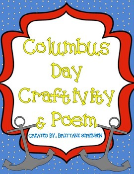 Columbus Day Craft and Poetry