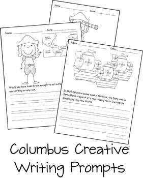 columbus day creative writing prompts kindergarten 1st grade by beth gorden. Black Bedroom Furniture Sets. Home Design Ideas