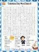 Columbus Day Activities Crossword Puzzle and Word Search Find