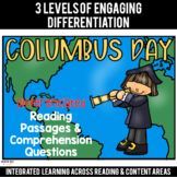 Columbus Day Differentiated Reading Passages & Questions