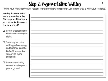 Columbus Day: Differentiated Writing Activities