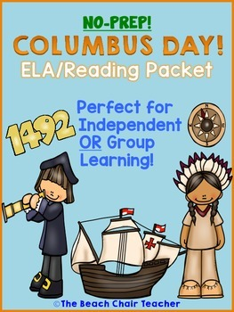 Columbus Day ELA Reading NO PREP Packet