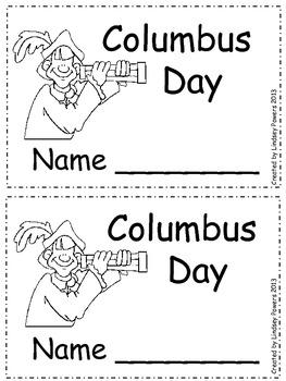 Columbus Day Emergent Reader