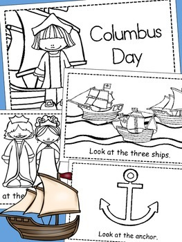 Columbus Day Emergent Reader *Build Your Own*
