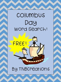 Columbus Day Word Search FREE