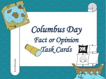Columbus Day Fact or Opinion Task Cards
