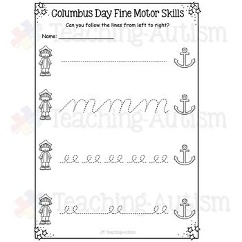 Columbus Day Worksheets