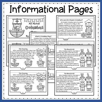 Columbus Day Flip Book!  All About Christopher Columbus + Follow Up Activities!