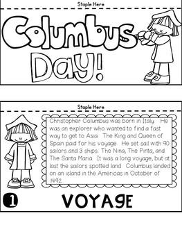 Columbus Day Flip Book (No Fuss, No Prep!)
