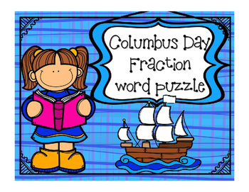 Columbus Day Math - Fraction for Math or Reading Centers