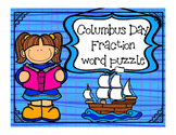 Christopher Columbus Day Math - Fractions for Math or Reading Centers