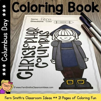 Columbus Day Coloring Pages Dollar Deal - 21 Pages of  Columbus Day Coloring Fun