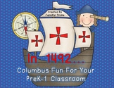 Columbus Day Fun For Kids in PreK-1!  Poem, Printables & Craft!  CC Aligned