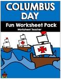 Columbus Day Fun Worksheet Pack (K-2)