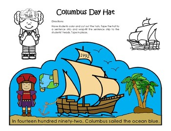 Columbus Day Hat -  Kindergarten to 2nd Grade
