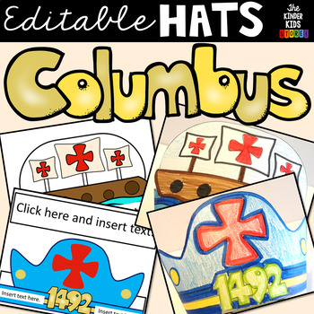Columbus Day Hats (Editable)