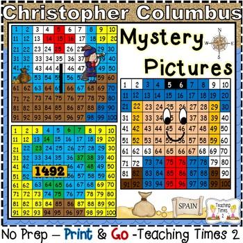 Columbus Day Hundreds Chart Hidden Pictures