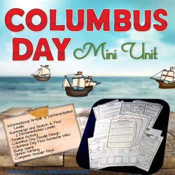 Columbus Day Informational Article and Mini Unit