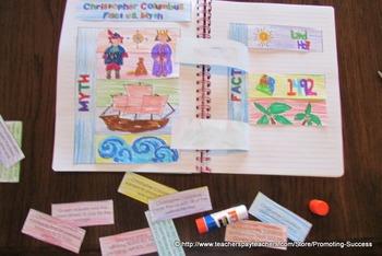 Christopher Columbus Activities, Facts vs. Myths, Columbus Day Craftivity