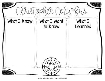 Columbus Day Literacy Pack - Grades 4, 5, 6