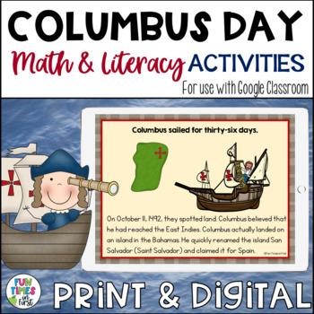 Columbus Day {Literacy and Math}
