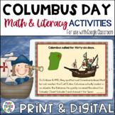 Columbus Day Activities {Math & Literacy}