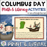 Columbus Day {Literacy and Math}